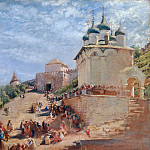 Konstantin Makovsky - The Ivanovsky Road to the Kremlin of Nizhny Novgorod
