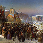 St Petersburg, 1869: Festivities on Admiraltesky Square during Shrovetide, Jan Baptist Lodewyck Maes