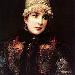 Konstantin Makovsky - Russian beauty in kokoshnik