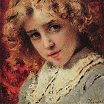 Konstantin Makovsky - Children's head (Possibly portrait of Konstantin's son)