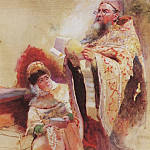 Konstantin Makovsky - Priest and Boyarynya