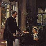Konstantin Makovsky - The landlord. L.V. Tarnovskaya in his estate Kachanovka