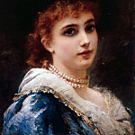 Konstantin Makovsky - A Parisian Beauty in Pearls