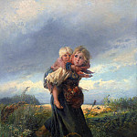 Konstantin Makovsky - Children running from a thunderstorm