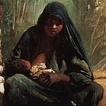 Konstantin Makovsky - Egyptian with a child