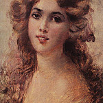 Konstantin Makovsky - Girl Head