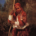 Konstantin Makovsky - Russian girl with a rake