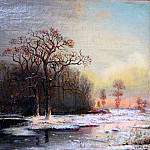 Юлий Клевер - Зимний пейзаж - Winter Landscape. (1876)