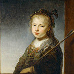 Part 5 Louvre - Govaert Flinck -- Young Woman as a Shepherdess