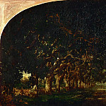 Part 5 Louvre - Théodore Rousseau (1812-1867) -- Avenue of Chestnut Trees at the Château de Souliers, near Bressuire