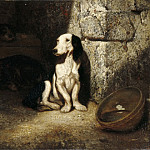 Part 5 Louvre - Alexandre-Gabriel Decamps -- Black and white basset hound