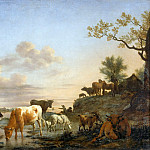 Part 5 Louvre - Adriaen van de Velde -- Landscape: Animals at the River