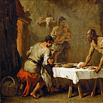 Sebastiano Ricci -- The Satyr and the Farmer, one of Aesop's fables, Part 5 Louvre