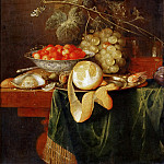 Part 5 Louvre - Jan Davidsz. de Heem (1606-1683 or 1684) -- Still Life with Peeled Lemon