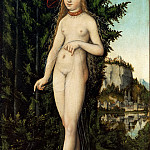 Part 5 Louvre - Lucas Cranach the elder -- Venus Standing in a Landscape