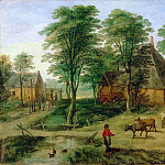 Part 5 Louvre - Jan Brueghel the Younger; formerly attributed to Paul Bril -- Farmyard (Cour de ferme)