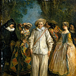 Part 5 Louvre - Nicolas Lancret -- Italian Comedians (Actors of the Comédie Italienne)