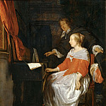 Part 5 Louvre - Gabriel Metsu -- Lesson on the Virginal