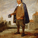 David Teniers II -- Mendicant with a rattle in his hand, Part 5 Louvre