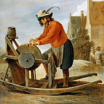 Part 5 Louvre - David Teniers II -- The Knife-grinder