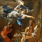 Part 5 Louvre - Solimena, Francesco -- Joseph's dream. Canvas 75 x 65 cm R.F.1983-68