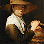 Jacob Gerritsz. Cuyp -- Young Girl with a Basket of Eggs, Part 5 Louvre