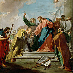 Part 5 Louvre - Giovanni Battista Pittoni the Younger (1687-1767) -- Christ Handing the Keys to Saint Peter