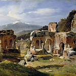 Part 5 Louvre - Achille Etna Michallon -- Ruins of the theater at Taormina