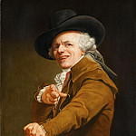 Part 5 Louvre - Joseph Ducreux -- Portrait of the artist with the traits of a mocker