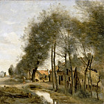 The route to Sin-le-Noble, near Douai, Jean-Baptiste-Camille Corot