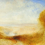 Part 5 Louvre - Joseph Mallord William Turner -- Landscape with river and a bay in the far background