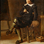 Part 5 Louvre - Cornelis Saftleven (1607-1681) -- Self-Portrait with Easel