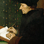 Part 5 Louvre - Hans Holbein the Younger (1497 or 1498-1543) -- Erasmus of Rotterdam (1466-1536)
