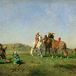Part 5 Louvre - Eugène Fromentin -- Hunting with Falcons in Algeria