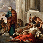 Laurent de La Hyre -- Saint Peter Healing the Sick with His Shadow, Part 5 Louvre