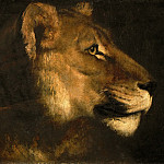 Head of a Lioness, Jean Louis Andre Theodore Gericault