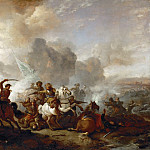 A cavalry skirmish between Imperial and oriental () troops, Philips Wouwerman