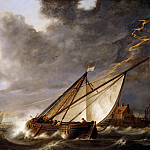 Part 5 Louvre - Aelbert Cuyp -- Boats Running Before a Storm