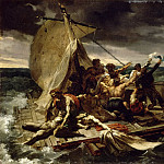 Part 5 Louvre - Théodore Géricault -- Sighting of the distant Argus, first painted sketch for the Raft of the Medusa (Le Radeau de la Méduse)