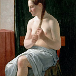 Part 5 Louvre - C. W. Eckersberg -- Seated nude, or, 'The Model' (Trine Nielsen)
