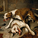 Part 5 Louvre - Edwin Landseer (1802-1873) -- Fighting Dogs Pausing for Breath