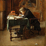 Young Man Writing, Jean-Louis Ernest Meissonier