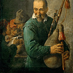 Part 5 Louvre - David Teniers II -- The Bagpiper, also called The Piper