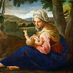 Part 5 Louvre - Simone Cantarini (1612-1648) -- Rest on the Flight to Egypt
