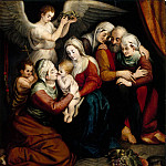 Part 5 Louvre - Workshop of Frans Floris the Elder -- Holy Family with Saints Anne, Elizabeth and the Infant John the Baptist