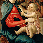 Part 5 Louvre - Sandro Botticelli (1444 or 1445-1510) -- Virgin and Child (Madonna of the Guidi of Faenza)
