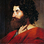 Part 5 Louvre - Jean-Auguste-Dominique Ingres -- Head of Saint Matthew, study for Christ Giving the Keys to Saint Peter