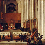 Part 5 Louvre - Venetian; formerly attributed to Titian -- Council of Trent, perhaps the 23rd Session in the Cattedrale di San Vigilio