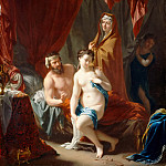 Part 5 Louvre - Philip van Dijk -- Sarah presenting Hagar as the second wife of Abraham
