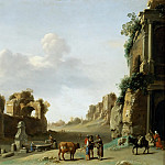 Part 5 Louvre - Cornelis van Poelenburgh (1594 or 1595-1667) -- View of the Campo Vaccino with a Donkey